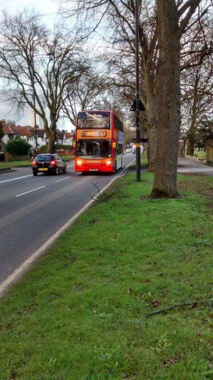 Bus driving along Pershore Road