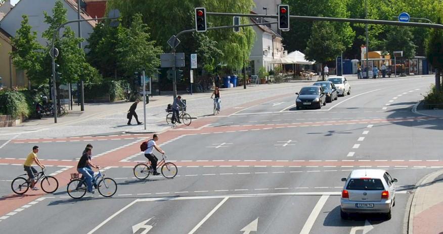 A junction in Erlangen