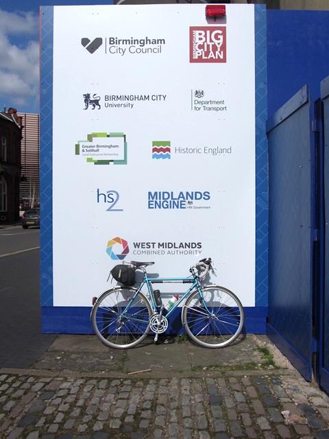 Construction billboard with West Midlands organisations