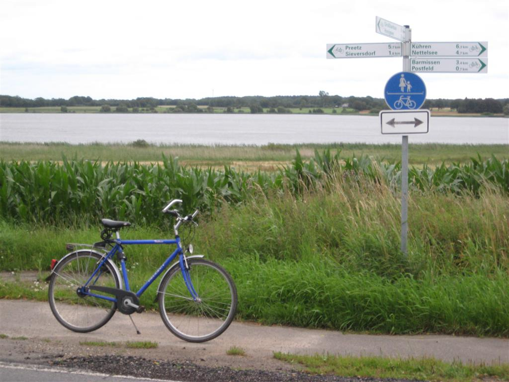 German signpost for cyclists