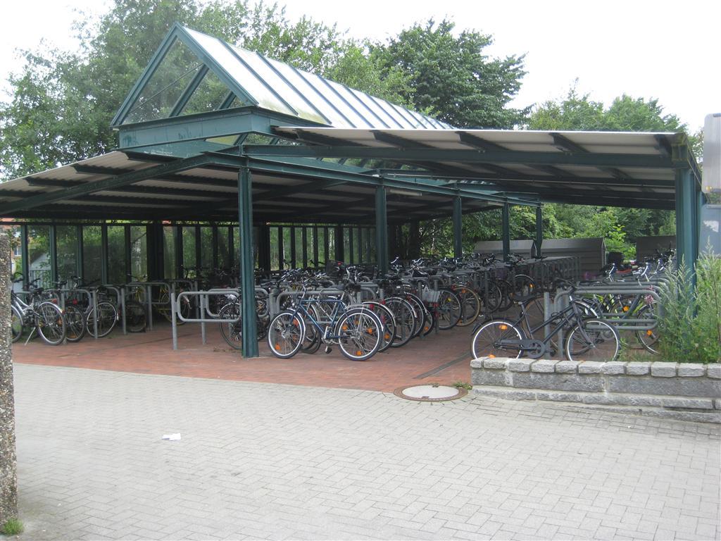 Cycle parking at Preetz station