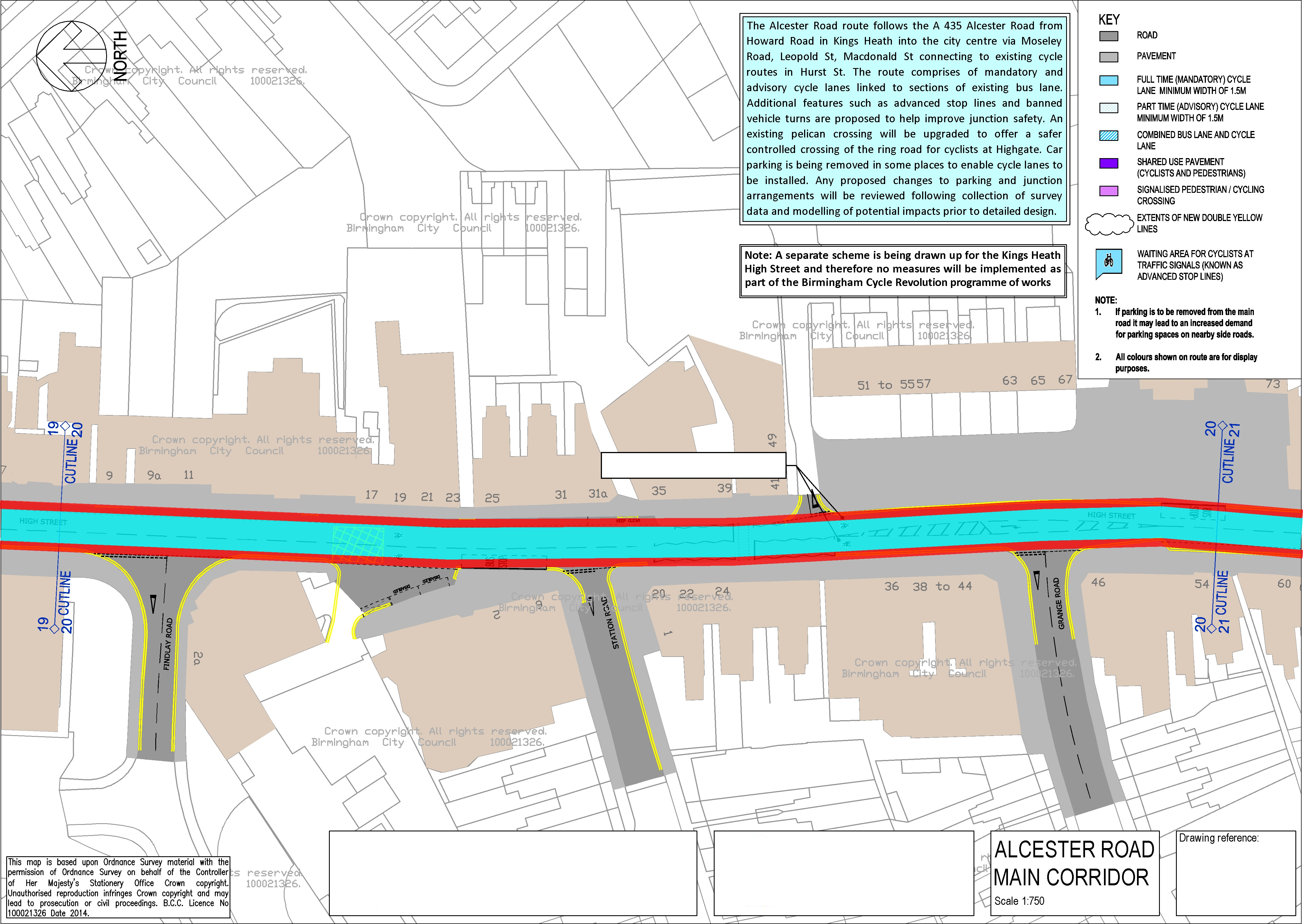 Push Bikes proposal for Kings Heath (section 2)