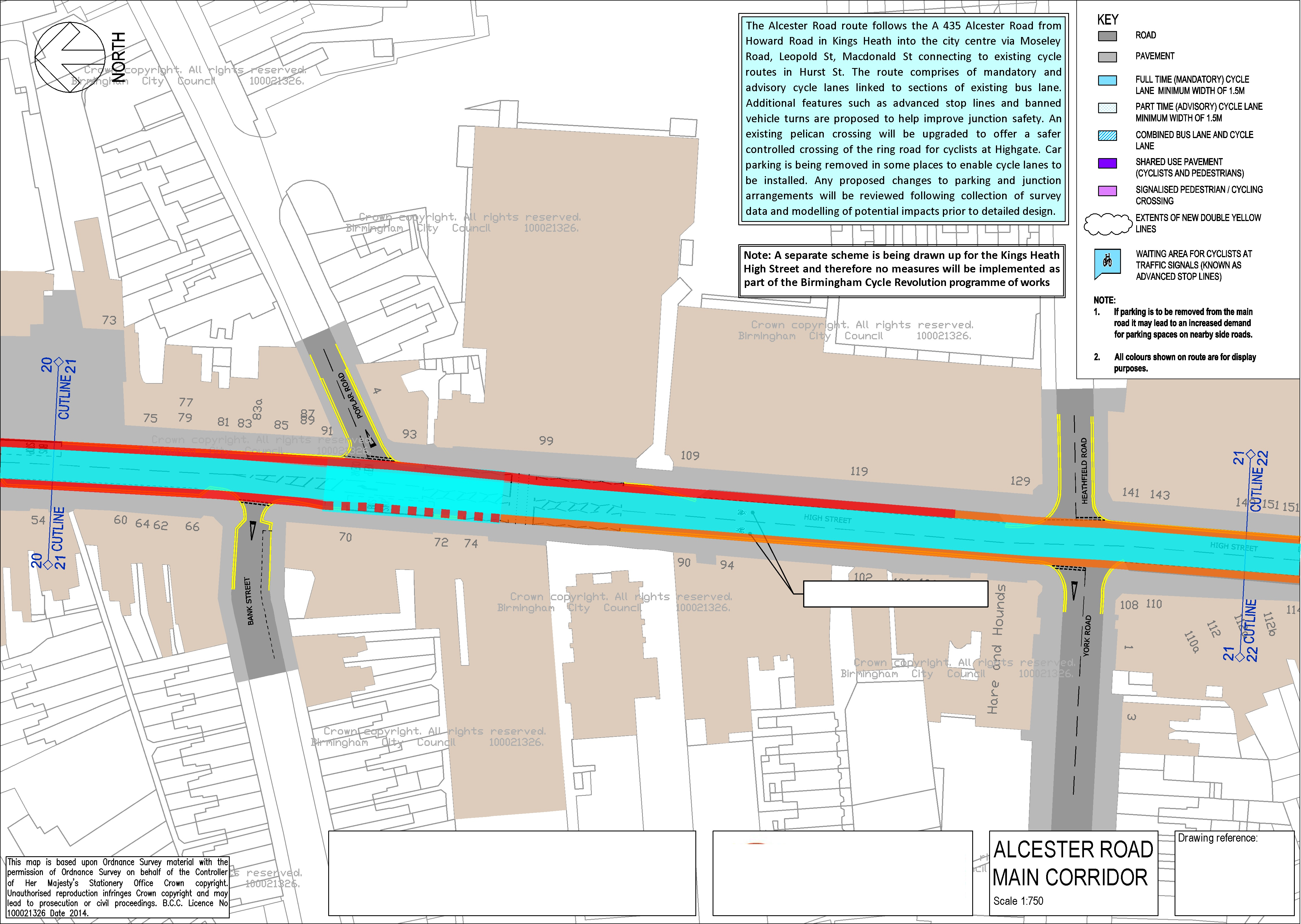Push Bikes proposal for Kings Heath (section 3)