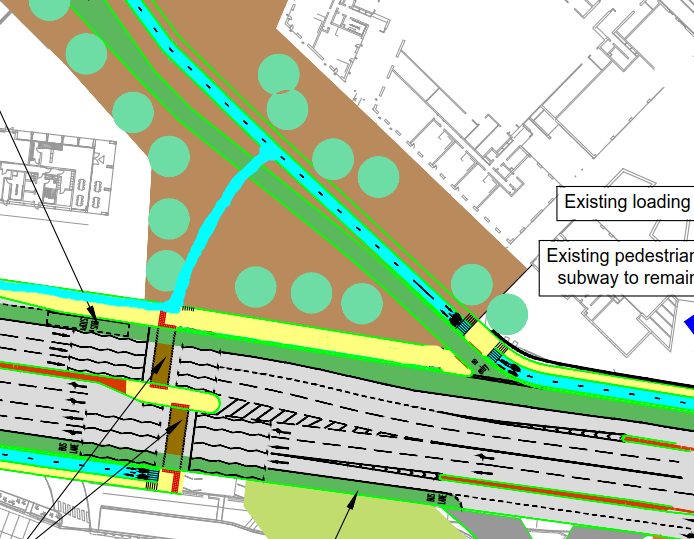 Perry Barr cycleways alternative arrangement