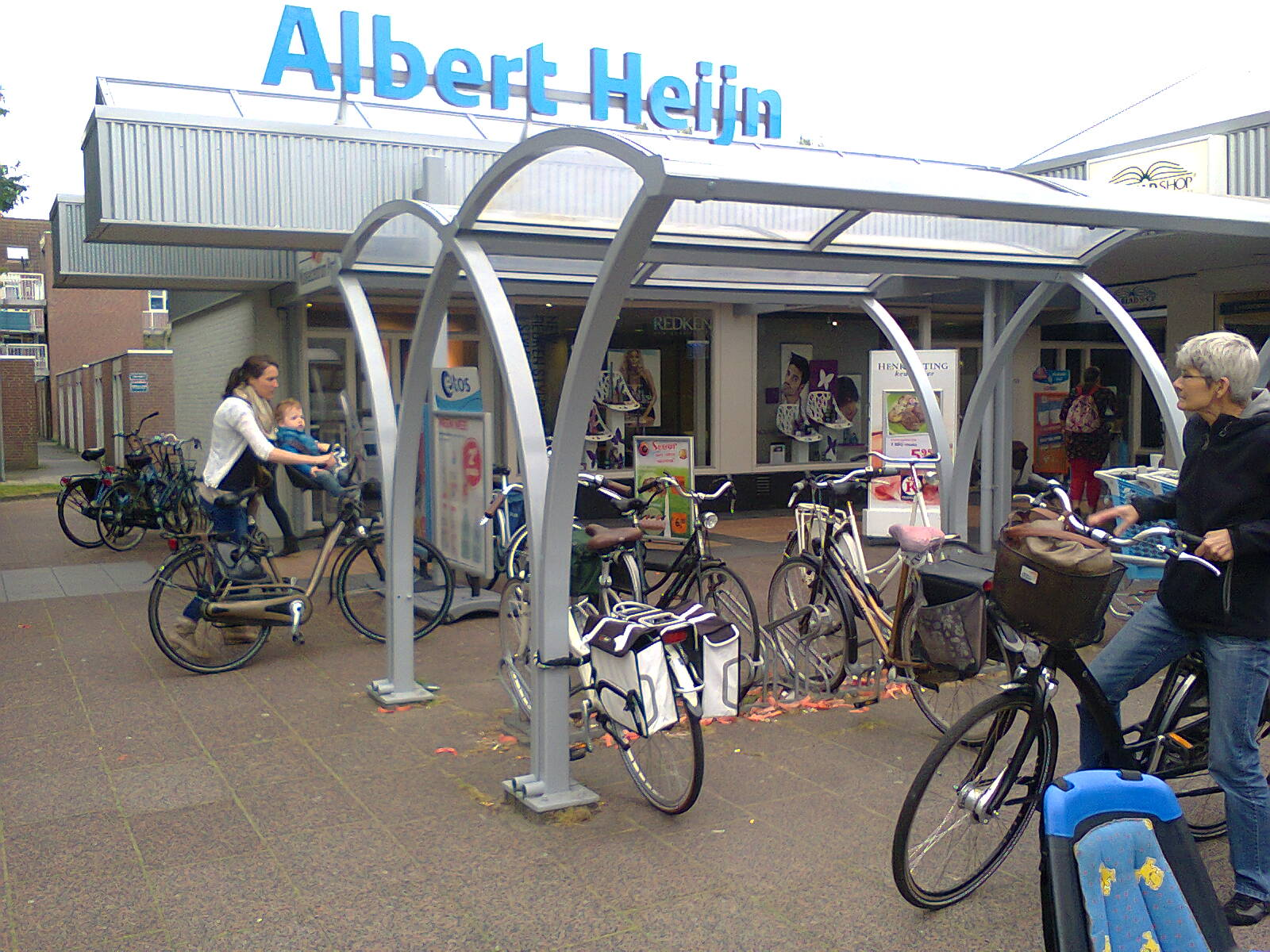 Cycle parking at a local shopping centre in Assen