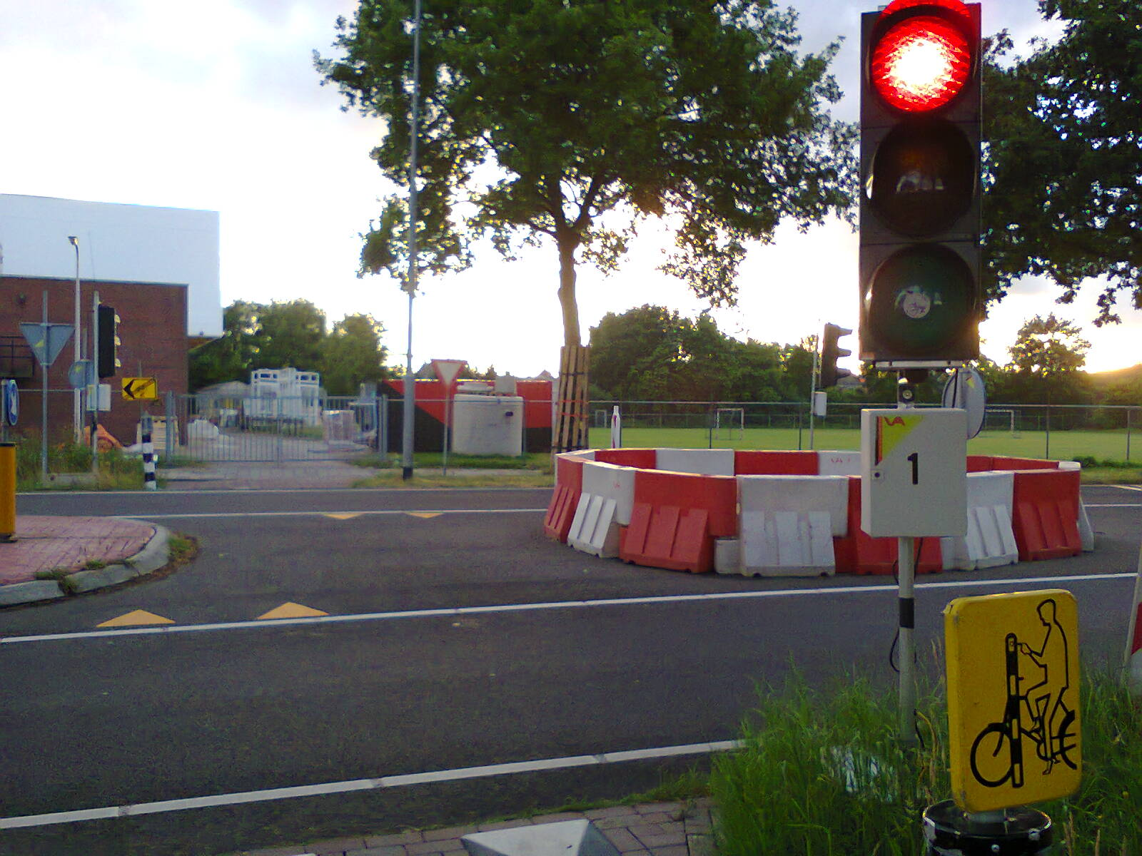Temporary cycle crossing