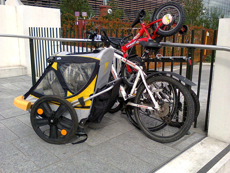 Bike parking was an issue