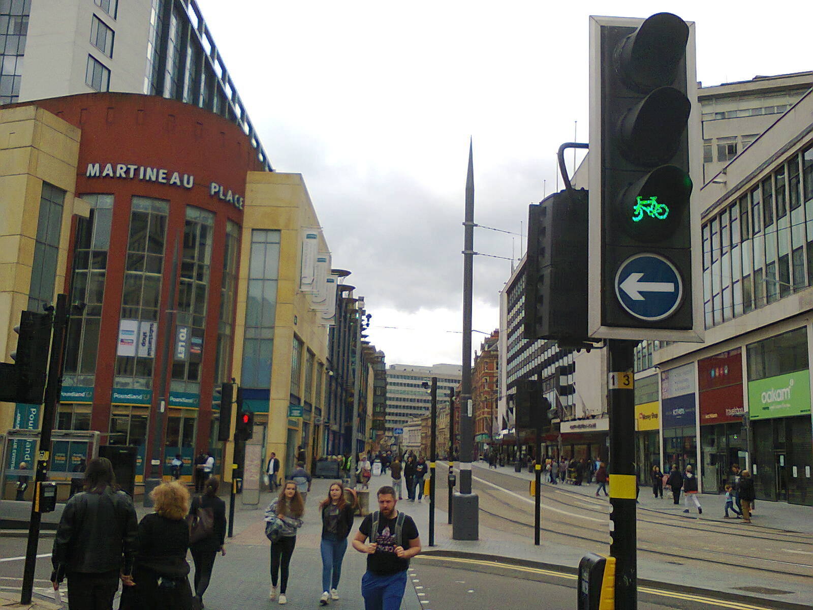 Corporation Street Junction with Bull Street Return Journey