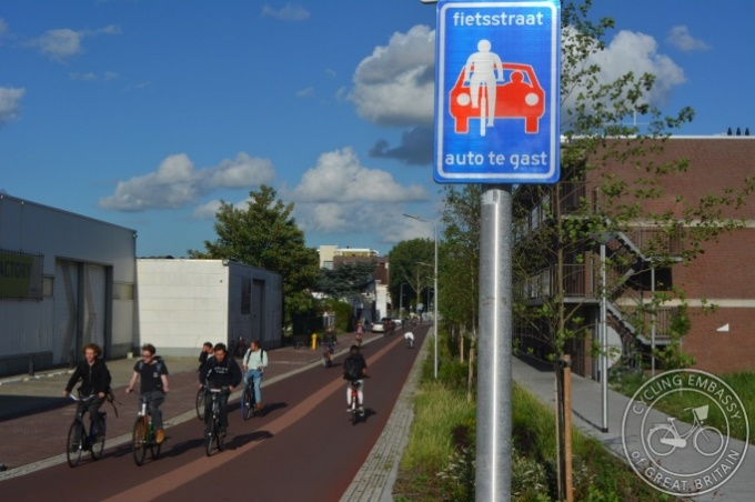Bicycle Street in the Netherlands