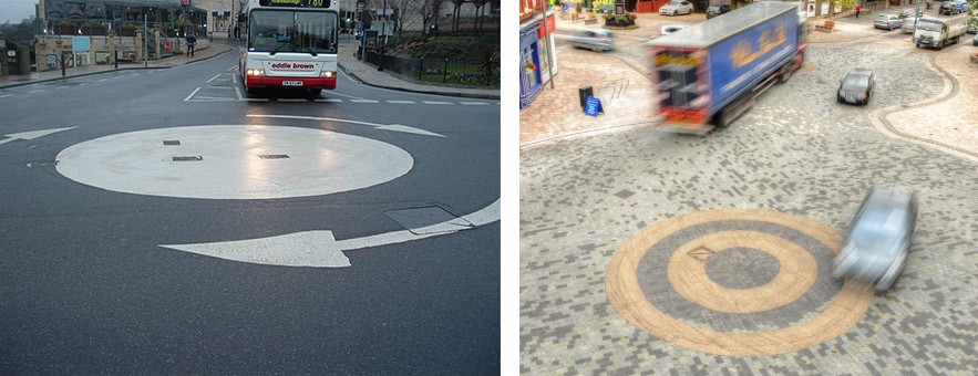 Roundels are not safer than roundabouts