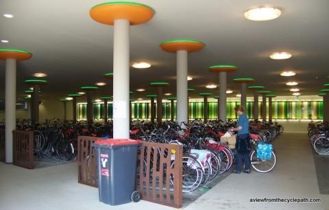 Cycle parking at Assen station in the Netherlands