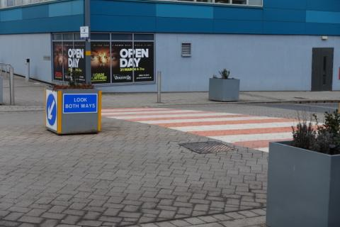 Signs and zebra crossings are not supposed to be a feature of Shared Spaces, but inevitably they have to be added, meaning the area is no longer a Shared Space