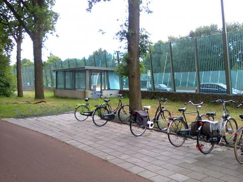 Cycle parking at a Dutch bus stop