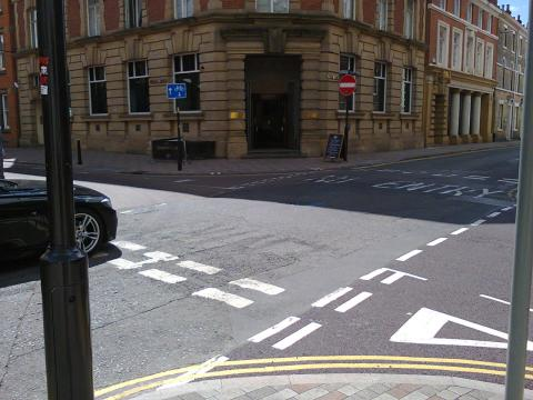 Grey Friars junction with Friar Lane