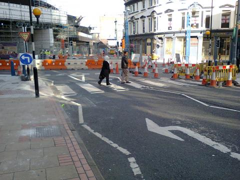 NCN5 Station Street closed