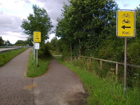 rural road junction in North Germany
