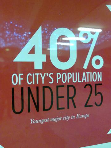 Forty percent of the city's population is under 25