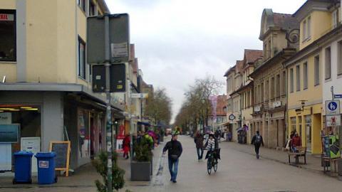 Restricted traffic zone in Erlangen, Germany