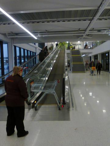 The travelator at the new Sainsbury's in Selly Oak is inconvenient, inefficient, and unreliable