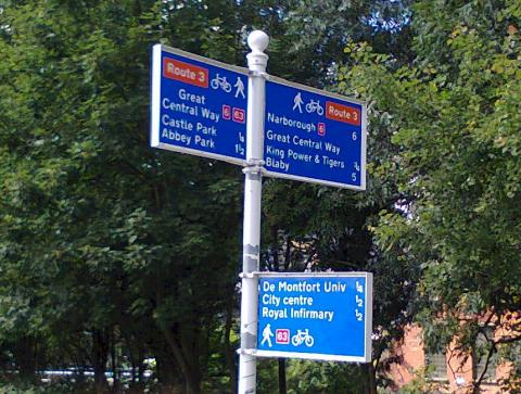 A signpost on the Great Central Way