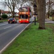 Bus driving along Pershore Road