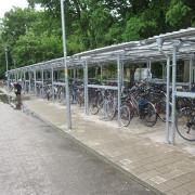 Covered cycle parking in Erlangen