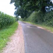 A rural road in North Germany
