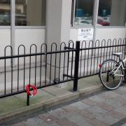 Unofficial cycle parking at the QE women's hospital