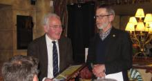 Howard Boyd receiving an award