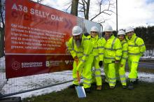 Work starts on the A38 cycle route