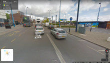 Google Street View image of motor traffic on Moor Street Queensway