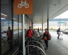Sainsburys bike stands sorted