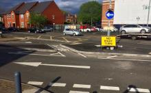 New junction design at the Warwards Lane junction with Pershore Road