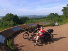 Natalya at the top of clent hill