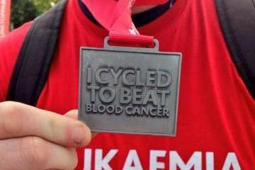 Cycling to beat blood cancer