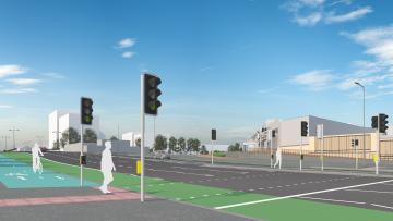 Proposed streetscape at Perry Barr